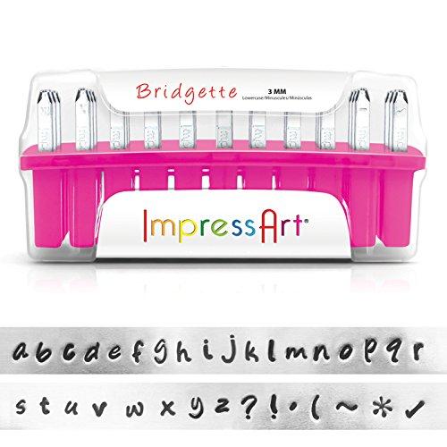 ImpressArt Metal Stamping Kit- Bridgette Lowercase by ImpressArt Metal Stamps