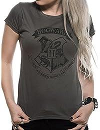 Harry Potter Distressed Hogwarts W, Camiseta para Mujer