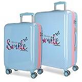 MOVOM Always Smile Juego de maletas, 67 cm, 100.5 litros, Azul
