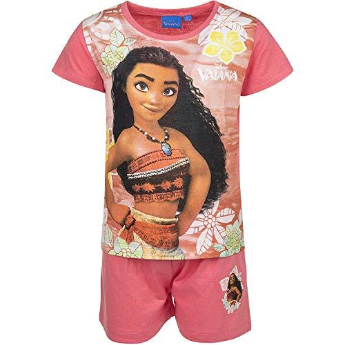 Disney Vaiana Mädchen Schlafanzug Gr. 8 Jahre, pfirsich