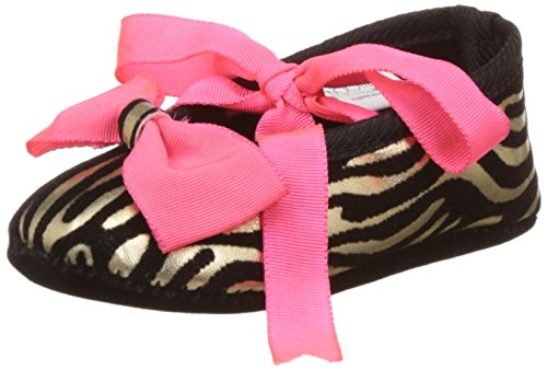 Bootie Pie Baby Girl's Zebra Stripes Black and Coral Booties...
