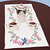 Stamped-Table-Runner/Scarf-15X42-Bird