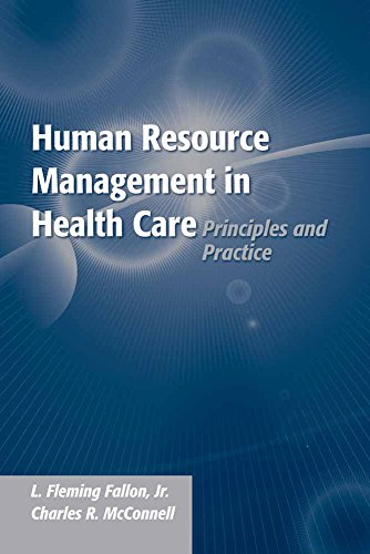 Human Resource Management in Health: Principles and Practice