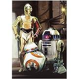 """Hallmark de tarjeta de Star Wars """"Classic diseño de los personajes de"""" mediano con fruncido en-"""