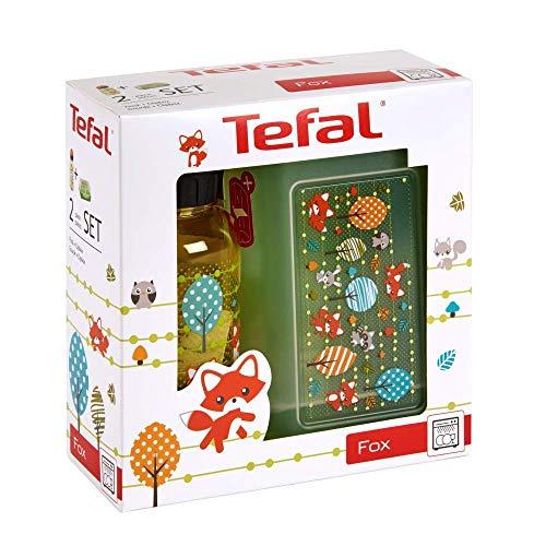Tefal Kinder Lunchbox und Getränke Flasche Fuchs Design
