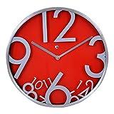 CLASSY RED WALL CLOCK