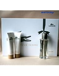 Lacoste Pour Femme/woman, Set (Eau de Parfum 50 ml + Körpercreme 2 x 50 ml), 1 Stück