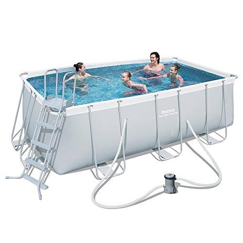 Bestway Frame Pool - Piscine rectangulaire hors-sol 412x 201x 122cm avec filtre et échelle