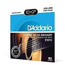 D'Addario EXP11 Set Corde Acustica EXP CTD 80/20, Bronzo