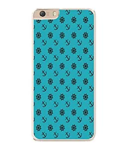 PrintVisa Cute Turquoise Anchor High Gloss Designer Back Case Cover for Micromax Canvas Knight 2 E471