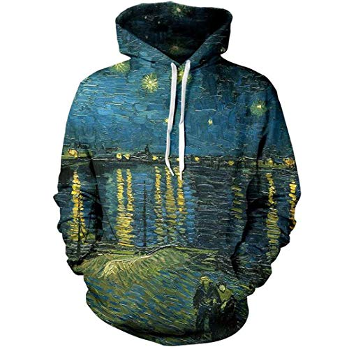Van Gogh The Starry Night Hoodie Hombre Mujer Ropa