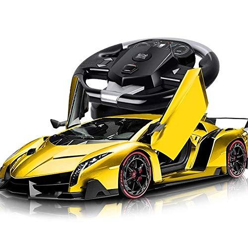 AIOJY Control Car 1/10 Poison Wiederaufladbare RC Auto Offizielles Lizenziertes Modell Funkferngesteuerte Elektrische Led-leuchten Stunt Racing Fahrzeug Geschenke for Kinder Jungen Mädchen Erwachsene