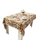 NiSeng Decoracion Hogar Manteles de mesa de lino Girasol Estampado de...