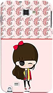 PRINTVISA Cartoon Pattern Girl Case Cover For Samsung Galaxy Note 1