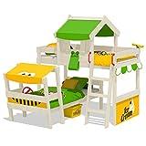 WICKEY Doppelbett CrAzY Trunky Etagenbett Kinderbett 90x200 für 2 Kinder in schrägem Design mit...