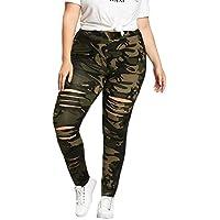 Leggins Mujer Pantalones Yoga Mujeres, Yusealia Cintura Alta Sólido Leggins Fitness Pantalones Talla Grandes de