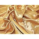 "60"" wide Liquid Satin Dress Fabric Gold - per metre"