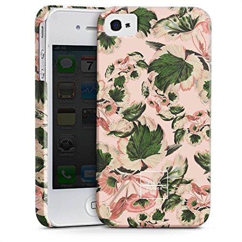 Apple iPhone X Silikon Hülle Case Schutzhülle Steinrohner Blumen Blätter Premium Case glänzend