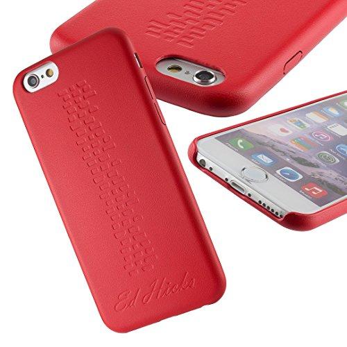 Ultra Dünn und Schlank, Leicht Schutzhülle Leder Hülle Case für iPhone 6S Plus und iPhone 6 Plus von Ed Hicks. Griffig und Dauerhaft Slim Hardskin Bumper Back Cover in Sangria Rot Rot