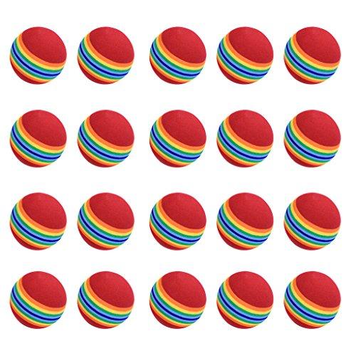 Preisvergleich Produktbild SODIAL(R) 20 Stuck Schwamm Golfball Ausbildung Softballe ubungsballe