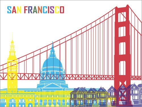 Posterlounge Holzbild 160 x 120 cm: San Francisco von Editors Choice