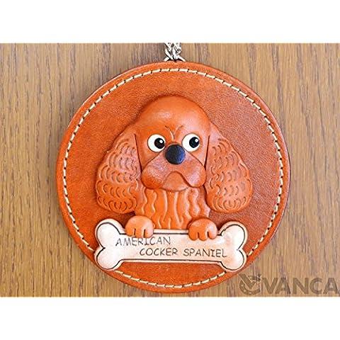 American Cocker Spaniel in vera pelle animale cane/decorazione da parete * VANCA * fatto a mano in Giappone