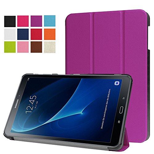 Hzssec ultra slim leggero colorato disegno elegante modello PU Tri-Fold basamento pieghevole Smart Cover per Samsung Galaxy Tab A 25,7cm 2016tablet (sm-t580/sm-t585, no penna version), con angoli di visione multipli e funzione