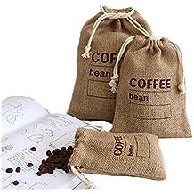 4a1cfd96d Cereales yute tejida a mano paquetes bolsas de granos de café cocina  Sundries guisantes bolsas sacos