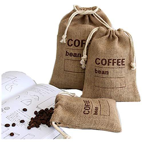 Cereales yute tejida mano paquetes bolsas granos café