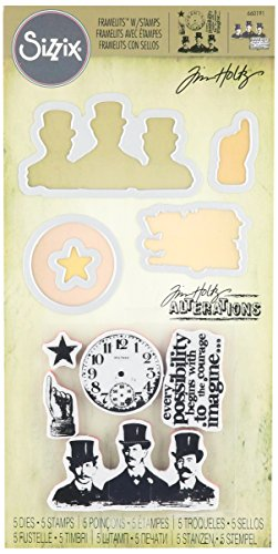 Best Saving for Sizzix Framelits Die Set with Stamps Possibilities by Tim Holtz (5 Pack) Online