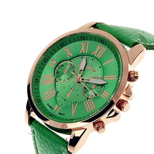 TrifyCore Reloj de Mujer Geneva Correa Doble Capa Nueva Verde 1 Paquete (con Cargo)
