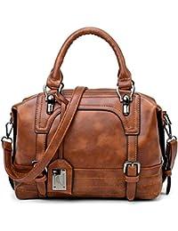 Popoti Damen Handtaschen Umhängetasche Tragetasche Taschen,Leder Schultertaschen Messenger,Einstellbar Neu Elegant Shopper Bag Beuteltasche