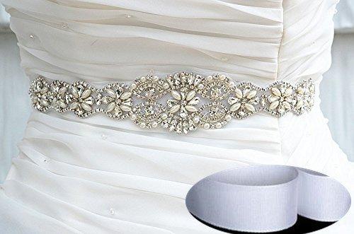 Queendream rhinestone cinture per gli uomini damigella d' onore sash bianco matrimonio damigella d' onore sash sashes