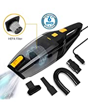 Voroly High Power 3500PA 120W 12V Auto Vacuum Cleaner for Car Portable Wet Dry Vacuum Cleaner for Dust Quick Car Cleaning, 14.8FT Power Cord, HEPA Filter