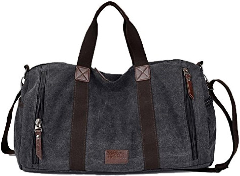VogueZone009 Mujeres Viajar Lona Bolsas de hombro Weekender Bolsas de mano,CCAYBP181130