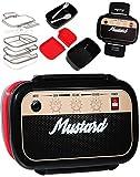 alles-meine.de GmbH 7 TLG. Set _ XL Lunchbox / Brotdose / Bento Box -  Radio - Rock Musik Box  - auslaufsicher - mit extra Einsätzen & Besteck / mehrere herausnehmbare Fächer -..