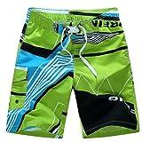 Shorts de bain pour hommes -Quick Dry- BZLine Beach Surfing Natation Camions-poche (Vert, L)