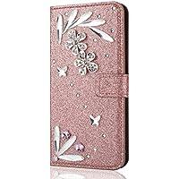 Shinyzone Huawei P20 Pro Brieftasche Leder Hülle mit 3D Schmetterling Diamant Glitzer Strass Feder Muster,[Kartenhalter... preisvergleich bei billige-tabletten.eu