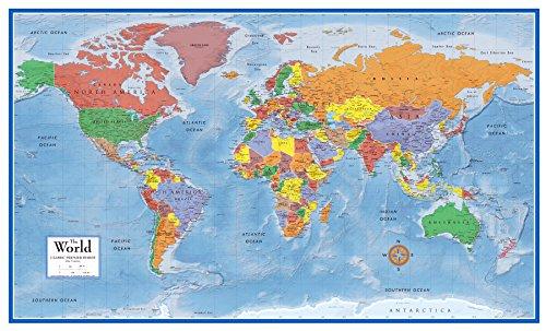 swiftmaps World Premier Wall Karte Poster Wandbild 24h x 36W Laminated (Laminierte Weltkarte Große)