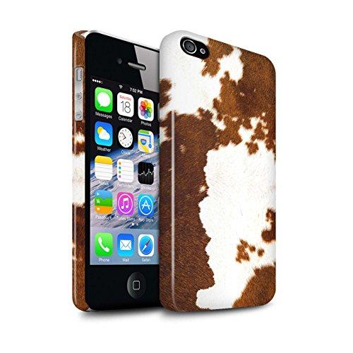STUFF4 Glanz Snap-On Hülle / Case für Apple iPhone 8 Plus / Leopard Muster / Tierpelz Muster Kollektion Kuh/Braun