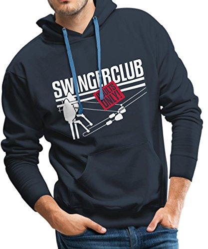 Angeln Swingerklub Männer Premium Kapuzenpullover von Spreadshirt®