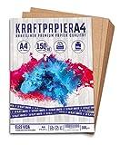 150 + 10 Blatt Set Kraftpapier A4 - 300 g - 21 x 29,7 cm - im DIN Format - Bastelpapier & Naturkarton Pappe Blätter aus Kraftkarton zum Basteln für Kartonpapier Vintage Hochzeit Geschenke Etiketten