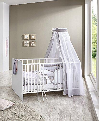 Babyzimmer komplett set weiß  Babyzimmer / Kinderzimmer komplett Set KIM 4 in Weiß, Komplettset ...
