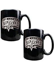 NBA 2pièces en céramique noire Mug Set–Primary Logo