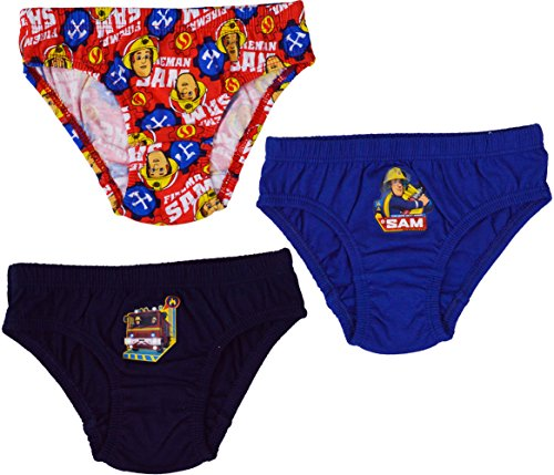Image of (3 Pack) - Boys Fireman Sam 100% Cotton Briefs Pants Underwear[2-3 Years][Multi]