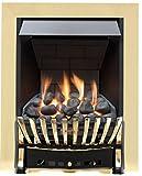 Eastleigh Slimline Radiant Gas Fire - Brass/Black