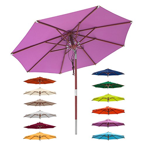 anndora® Sonnenschirm Knicker 3 m rund + Dreh-Kipp-Mechanismus + Winddach Farbauswahl