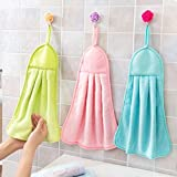 #10: Shop By Room Hanging Hand Napkin for Wash basin, Kitchen Basin(Assorted Colour) - Set of 3