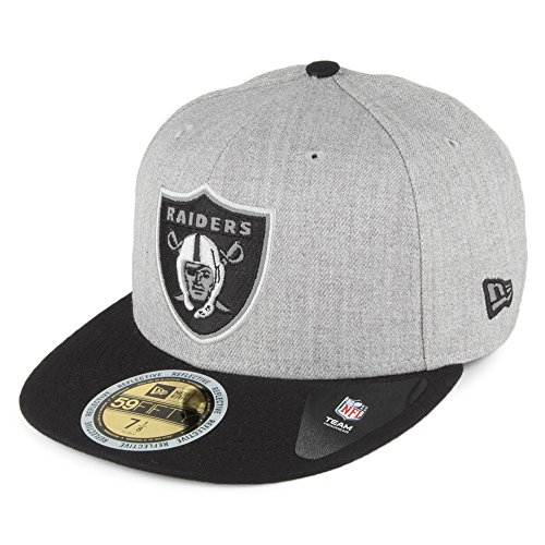 New Era Men Caps/Fitted Cap Reflective Heather Oakland Raiders 59Fifty