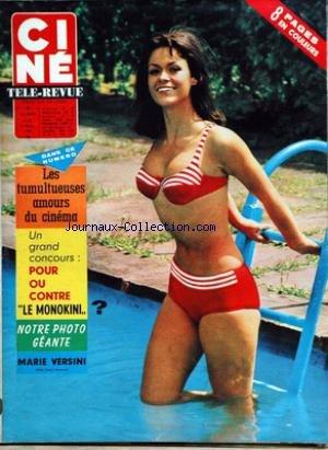 CINE TELE REVUE [No 31] du 30/07/1964 - LES AMOURS DU CINEMA - MARIE VERSINI - PAUL NEWMAN. par Collectif
